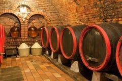 Barriles de vino Imágenes de archivo libres de regalías