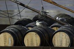 Barriles de vino de Oporto Foto de archivo