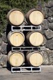Barriles de vino del roble Imágenes de archivo libres de regalías