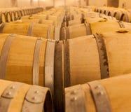 Barriles de vino del roble Imagenes de archivo