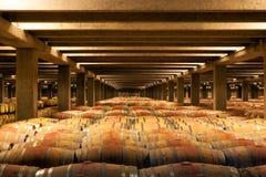 Barriles de vino del roble, La Rioja Fotografía de archivo libre de regalías