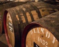 Barriles de vino del ` s de Blandy imagen de archivo