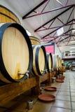 Barriles de vino grandes y pequeños Imagen de archivo