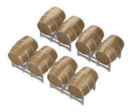 Barriles de vino de madera del grupo libre illustration