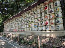 """Barriles del motivo en Meiji JingÅ """"Srine, Tokio, Japón imagen de archivo libre de regalías"""