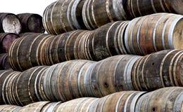 Barriles del whisky foto de archivo libre de regalías