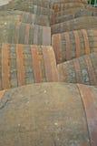 Barriles del whisky en la destilería en Escocia Reino Unido Fotografía de archivo libre de regalías