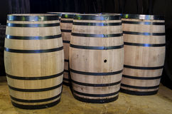Barriles del whisky o de vino Foto de archivo