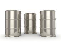barriles determinados del cromo de la representación 3D stock de ilustración
