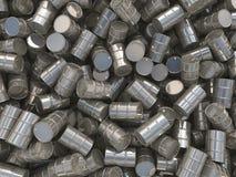 barriles determinados del cromo de la representación 3D Foto de archivo