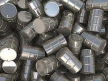 barriles determinados del cromo de la representación 3D Imagen de archivo libre de regalías