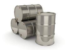 barriles determinados del cromo de la representación 3D Fotografía de archivo