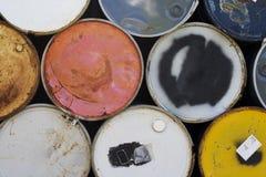 Barriles industriales coloridos Imagen de archivo