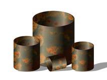 Barriles oxidados Imágenes de archivo libres de regalías