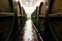 Barriles para almacenar la cerveza Fotografía de archivo
