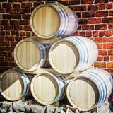 Barriles para el vino Fotos de archivo