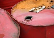 Barriles rojos Foto de archivo libre de regalías