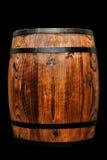 Barrilete de madera antiguo viejo del vino del barril del whisky aislado Foto de archivo libre de regalías