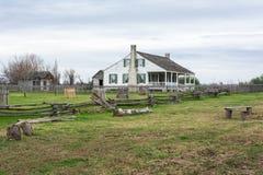 Barrington Living History Farm en Washington-en--Brazos, TX fotografía de archivo