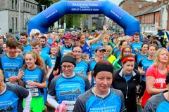 Barringtons Great Limerick Run. Start of a 6 mile run Marathon in Limerick 2016 Great Run/walk royalty free stock photos