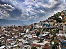 Barrio av område 13 i Medellin Colombia Royaltyfri Foto