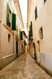 Barrio Calatrava Los Patios in Majorca at Palma. De Mallorca narrow street Stock Images