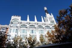Barrio de Las Letras, Madrid royalty free stock images