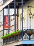 Barrio francés de New Orleans de la casa de la ostra de la cumbre Foto de archivo