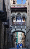 Barrio Gothic  Barcelona spain Royalty Free Stock Photography