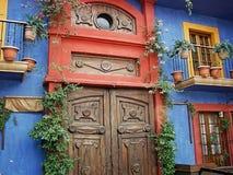 Barrio hispano Antiguo de Monterrey Foto de archivo