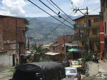 Barrio hispano Pablo Escobar imagenes de archivo