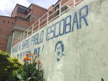 Barrio hispano Pablo Escobar imagen de archivo