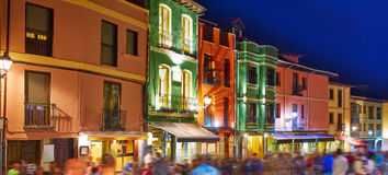 Barrio humedo nightlife, in leon downtown  spain Stock Photography