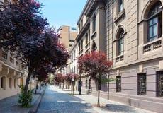 Barrio Parijs-Londres in Santiago, Chili Royalty-vrije Stock Afbeeldingen