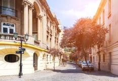 Barrio Paris-Londres i Santiago, Chile Arkivbilder