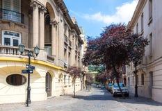 Barrio Paris-Londres in Santiago, Chile Stock Images