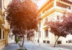 Barrio Paris-Londres in Santiago, Chile Stock Photos