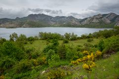 Barrios de Luna. Lake Barrios de Luna in Leon, Spain stock image