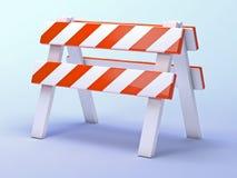 barrière des travaux routiers 3d Images stock