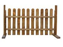 Barrière en bois au ranch d'isolement sur le fond blanc Photographie stock