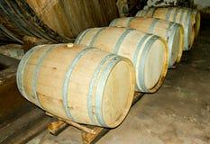 Barris do vinho fotografia de stock royalty free