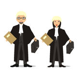 Barrister couple. Vector illustration of a young barrister couple Royalty Free Stock Images