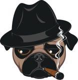 Barro amasado divertido con el cigarro stock de ilustración