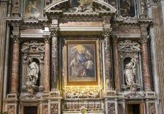 Barroco church of the Gesu Nuovo, Naples, Italy Stock Image