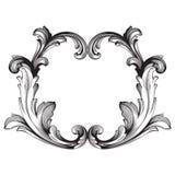 Barroco de los elementos del vintage para el diseño ilustración del vector