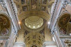Barroco kyrka av Gesuen Nuovo, Naples, Italien Arkivbild