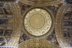 Barrocokerk van Gesu Nuovo, Napels, Italië royalty-vrije stock foto's