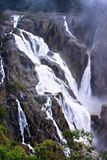 Barron Falls. Mist rising from the thundering Barron Falls after heavy rains Stock Images