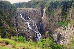 Barron Falls Australian vattenfall, rösen, Queensland som är austral arkivfoto