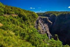 Barron Falls e ferrovie sceniche di Kuranda, Queensland, Australia Fotografia Stock